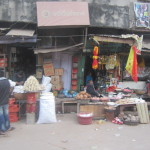 Traditional Varanasi shops by the roadside