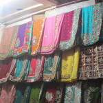 Indian silk scarves and saris