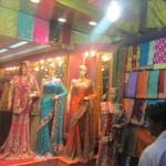 Beautiful Indian fabrics in Varanasi