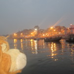 Lewis is mesmorised by the scene - Varanasi, the River Ganga