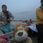 Rowing out onto the River Ganga