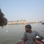 Lewis the Lion approaches the sandbanks of Allahabad