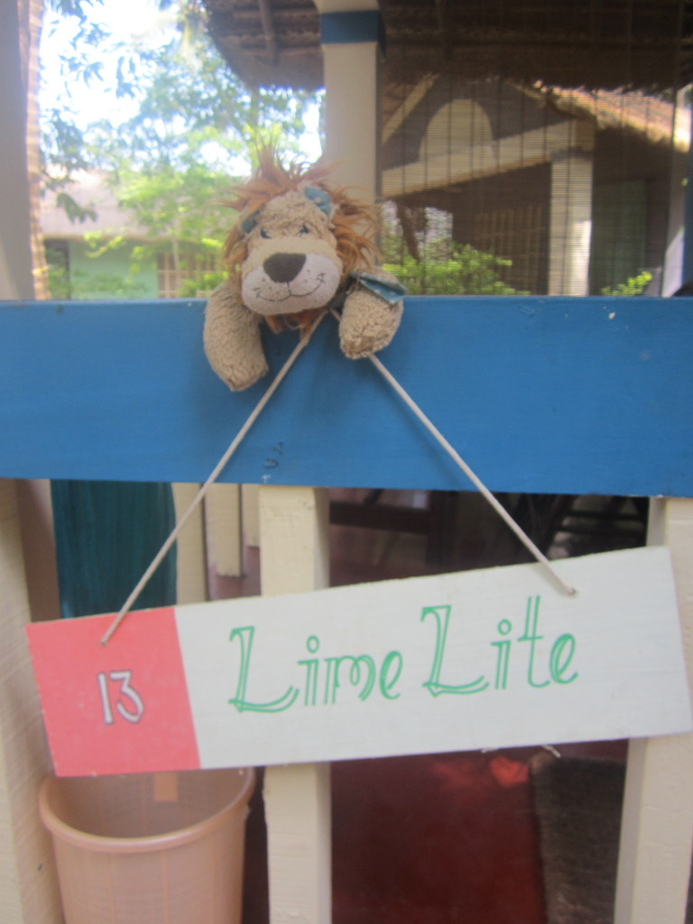 Lewis the Lion loves his Lime Lite beach hut