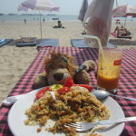 Eating down on the Palolem Beach