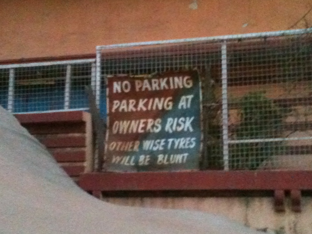 Parking signs in New Delhi