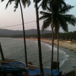The crescent-shaped Palolem beach
