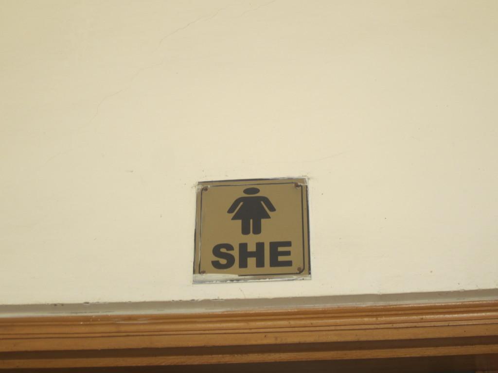 'She' toilet