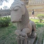 A sculpture of an Indian lion