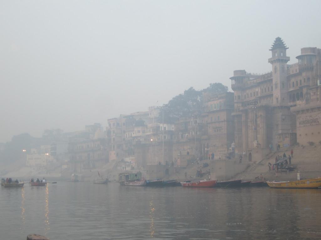 Along the ghats of Varanasi