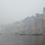 Along the ghats of Varanasi
