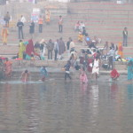 Hindus take the holy dip in the River Ganga