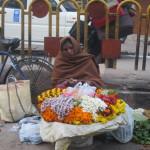 A Varanasi flower seller
